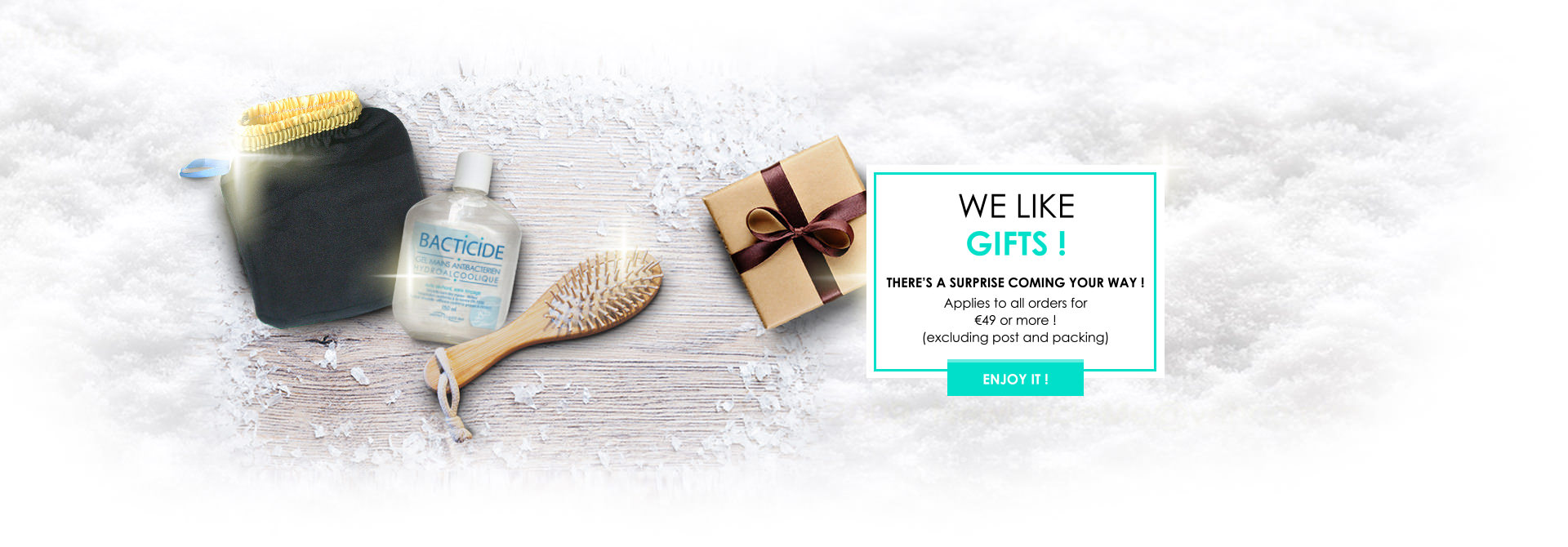 Free gift to all orders for €49 or more ! (excluding post and packing)